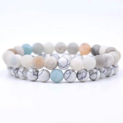 Amazonite distance bracelet set