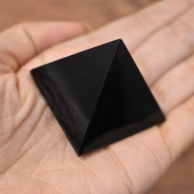 Black Obsidian Pyramid